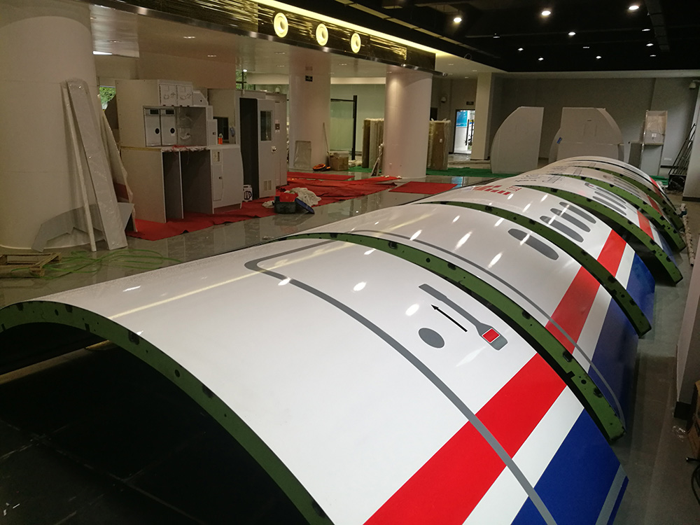 航空服务专业实训基地设备安装中